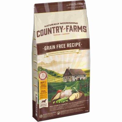 Сухой корм Country Farms беззерновой полнорационный для взрослых собак, с высоким содержанием курицы