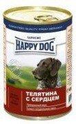 Консервы Happy Dog для собак 400 г (телятина с сердцем)
