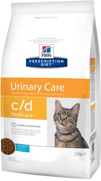 Сухой корм Hill's Prescription Diet c/d Multicare для профилактики МКБ и струвитов у кошек, с океанической рыбой, 1,5кг