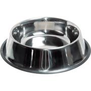 Миска для собак металлическая с резинкой Зооник №4 0,75л